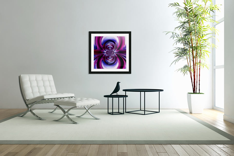 Purple Space in Custom Picture Frame