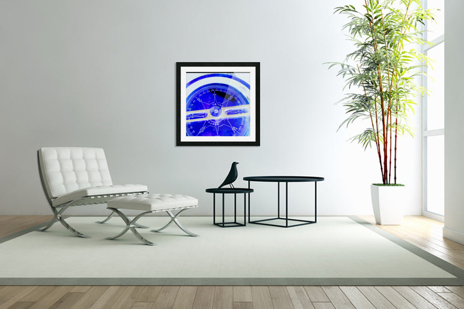 compass in Custom Picture Frame