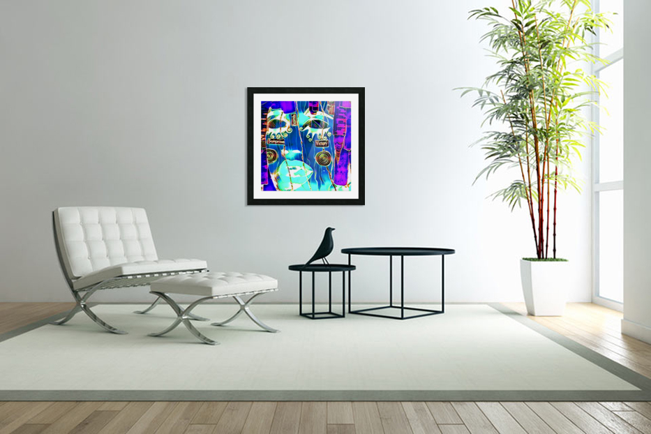 neon babe in Custom Picture Frame