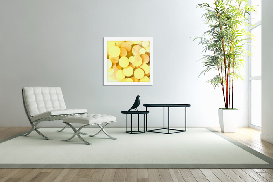 yellow circles in Custom Picture Frame