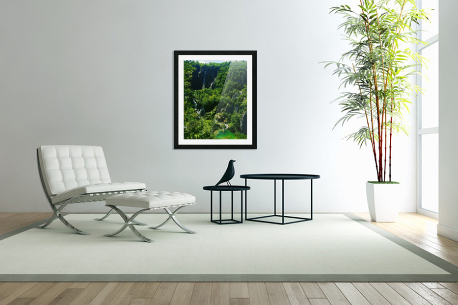 WATERFALL in Custom Picture Frame