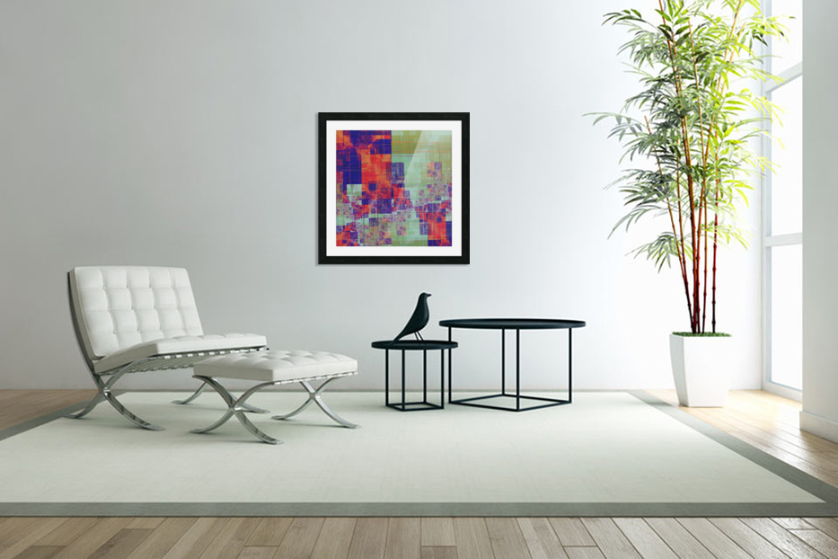 Abstract Composition 217 in Custom Picture Frame