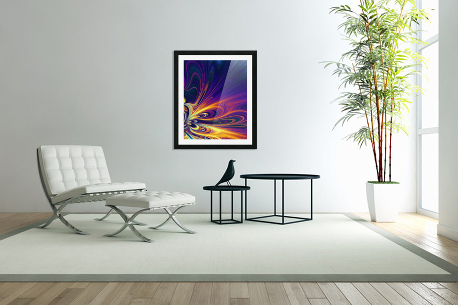 Abstract Composition 374 in Custom Picture Frame
