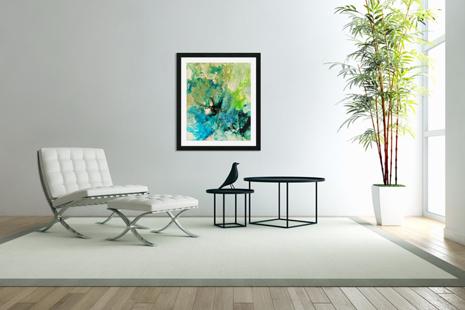 Abstract Composition 754 in Custom Picture Frame