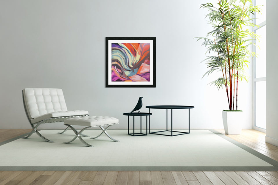 Abstract Composition 744 in Custom Picture Frame