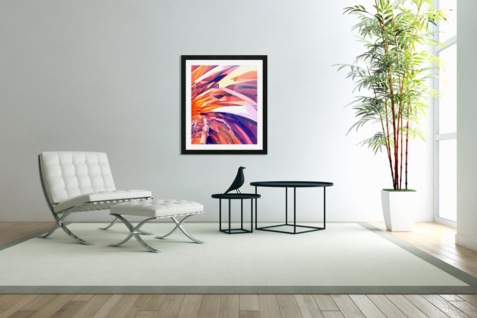 Abstract Composition 695 in Custom Picture Frame