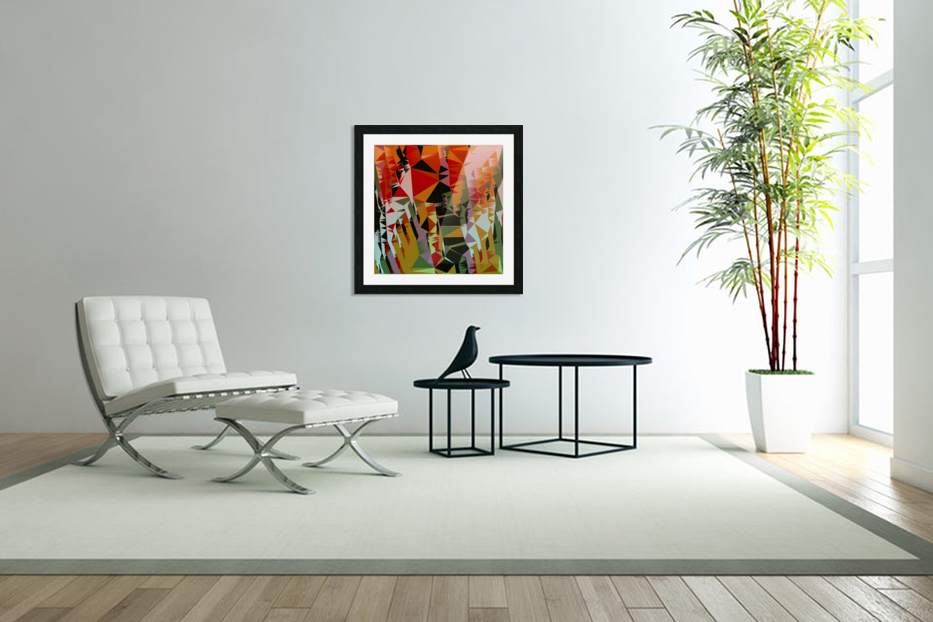 Abstract Composition 636 in Custom Picture Frame