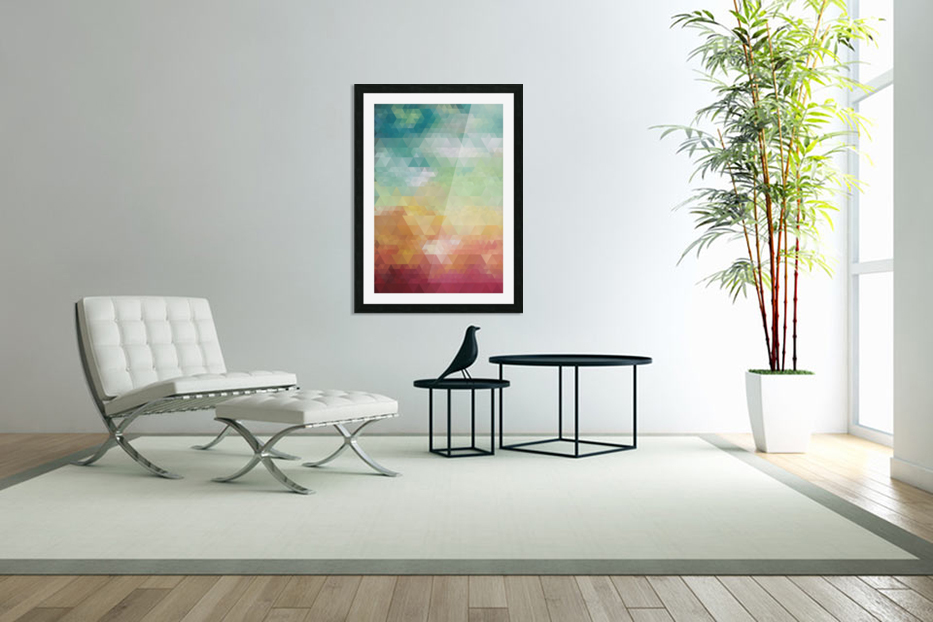 Abstract Composition 550 in Custom Picture Frame