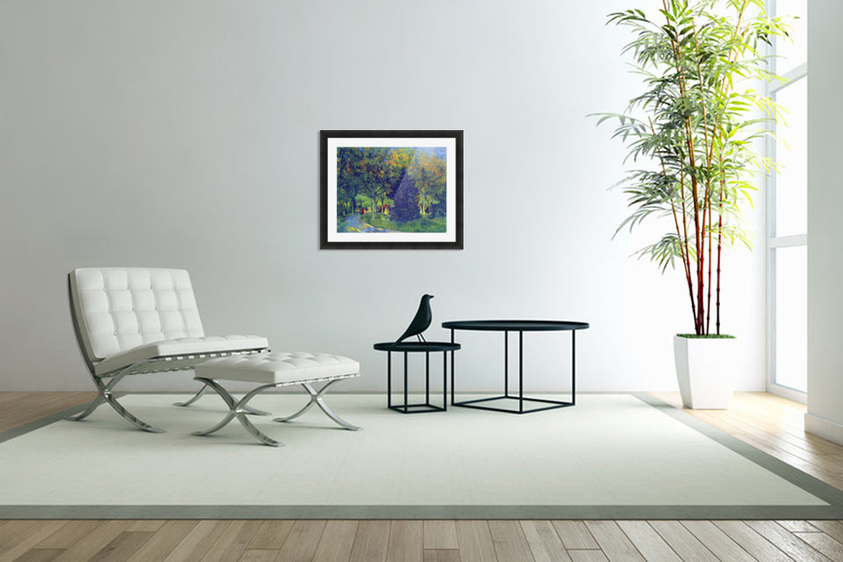 Allee in the Park by Van Gogh in Custom Picture Frame