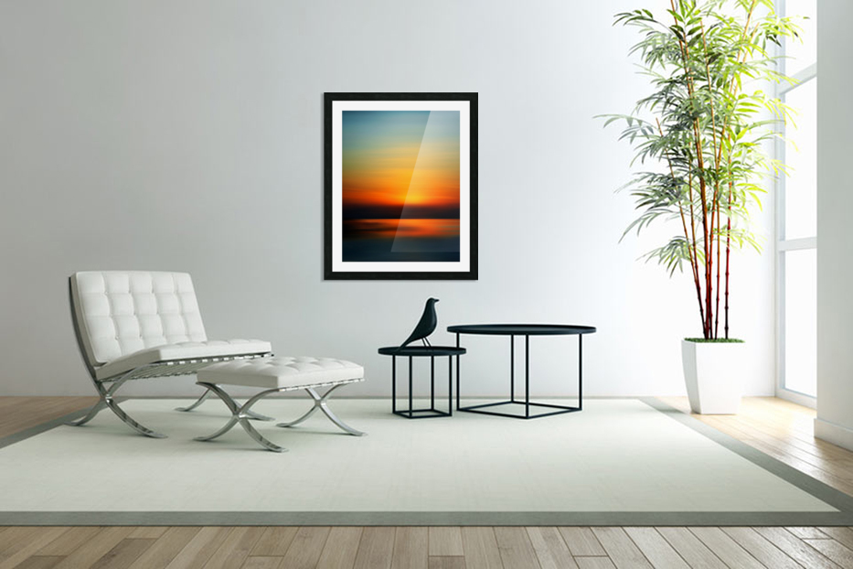 Abstract Landscape 9 in Custom Picture Frame