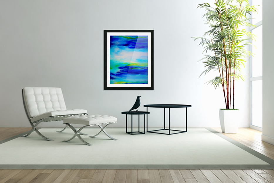 Abstract Landscape 11 in Custom Picture Frame