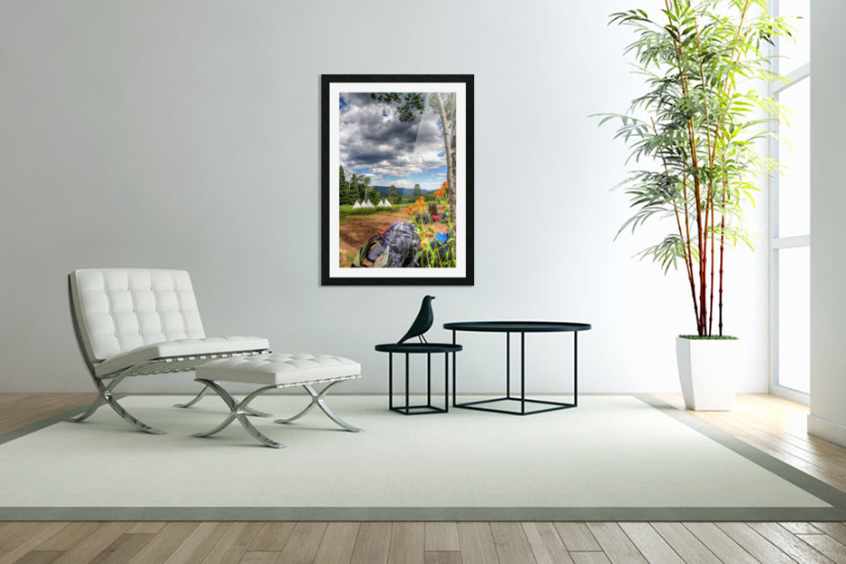 Rest with a View in Custom Picture Frame