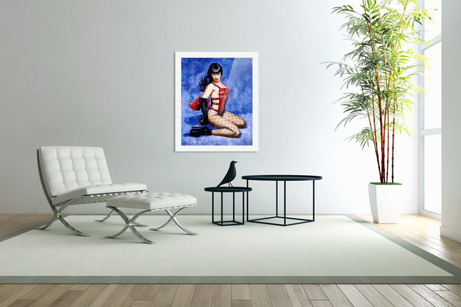 Bettie Page  in Custom Picture Frame