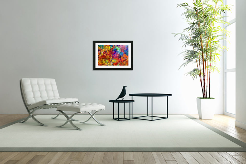 Autumn Leaves Abstract  in Custom Picture Frame