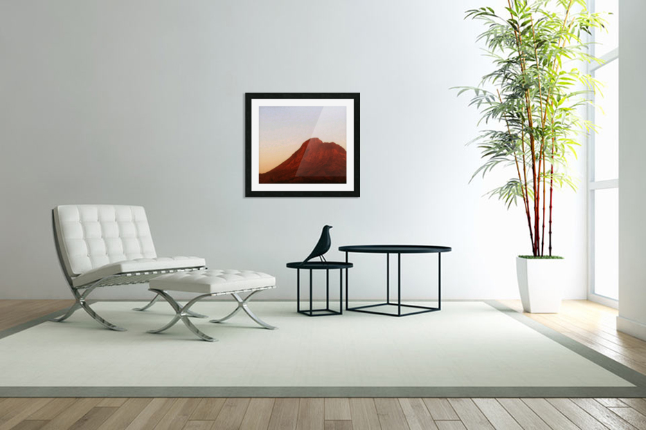 Red mountain side in Custom Picture Frame