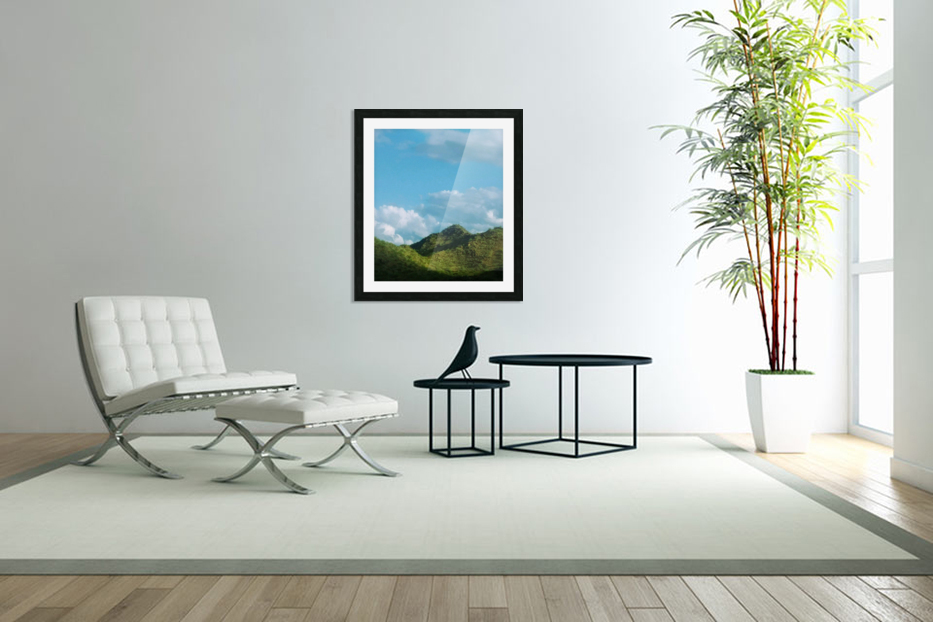 Rolling hills in Custom Picture Frame