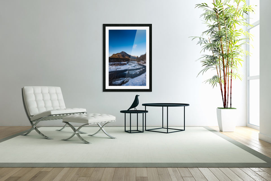 Blue freeze in Custom Picture Frame