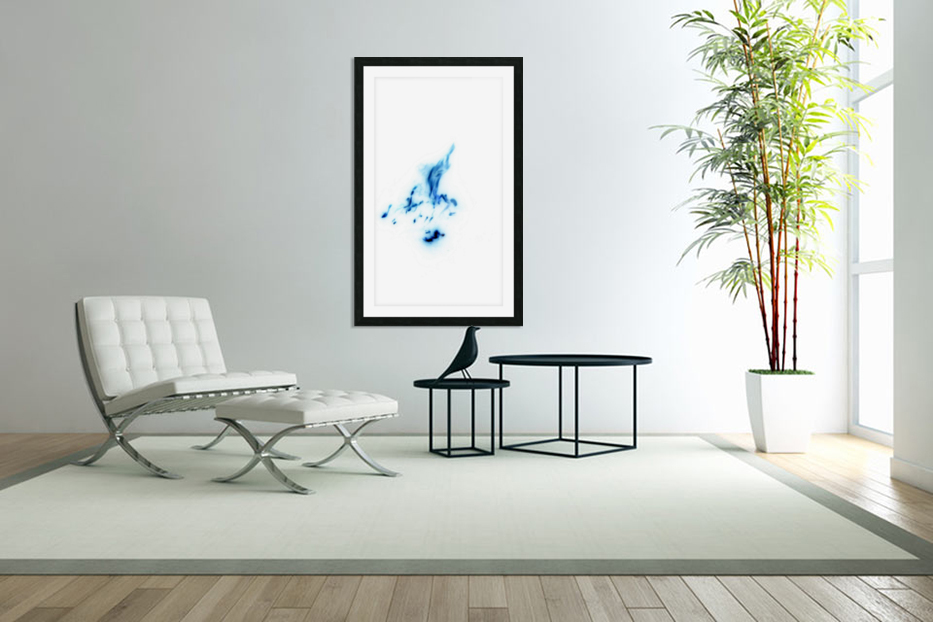 Blue Abstract in Custom Picture Frame