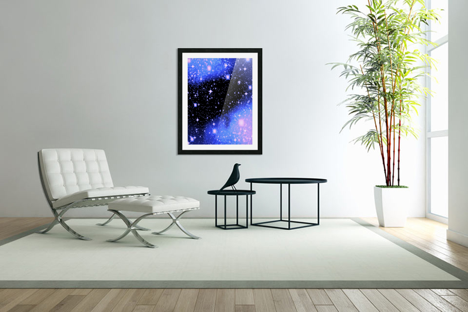 The Blue Realm in Custom Picture Frame