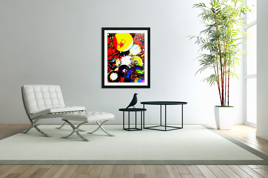 Clash of Worlds in Custom Picture Frame