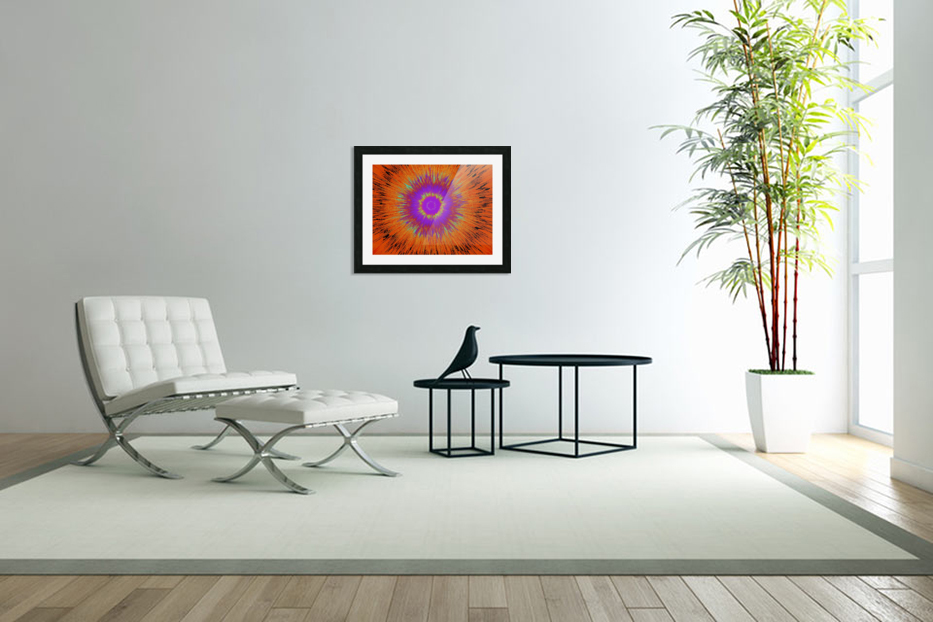 Abstract Sun 33 in Custom Picture Frame