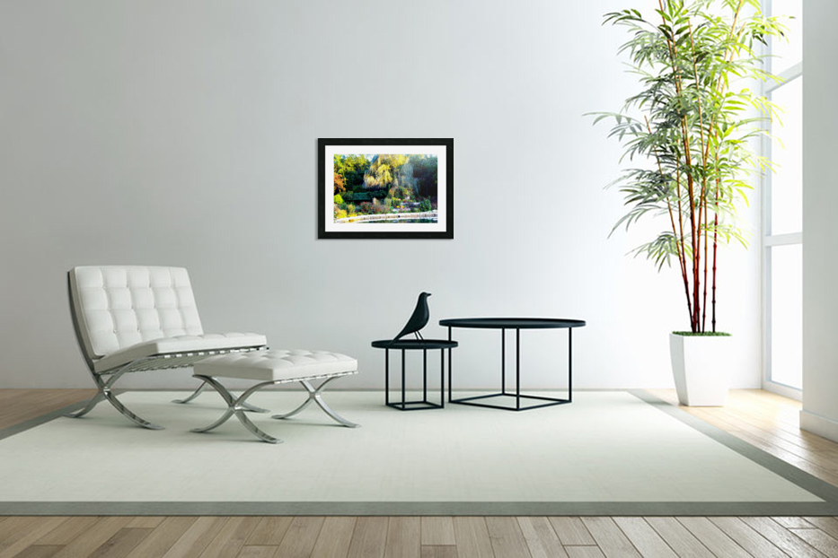 Reflections of a Monet Garden in Custom Picture Frame