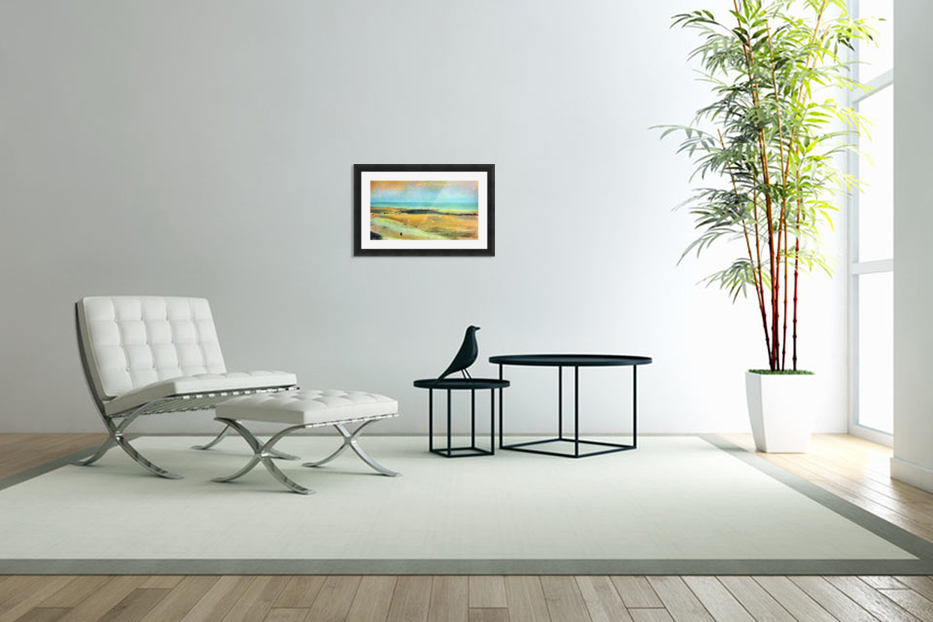Beach at low tide 1 by Degas in Custom Picture Frame