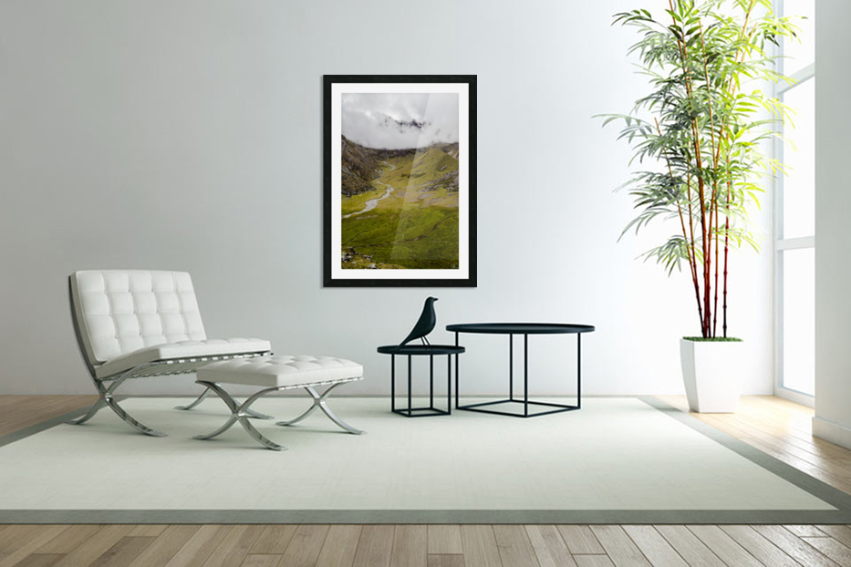 Cusco Valley in Custom Picture Frame