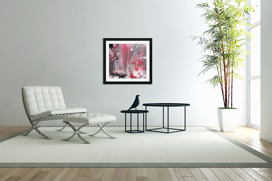Red forest in Custom Picture Frame