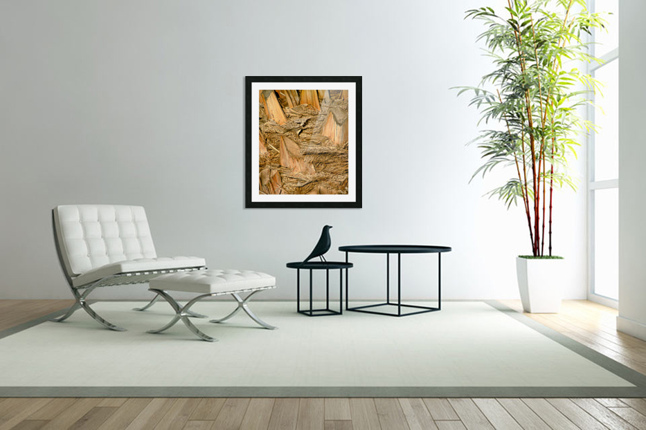 Jagged Gold in Custom Picture Frame