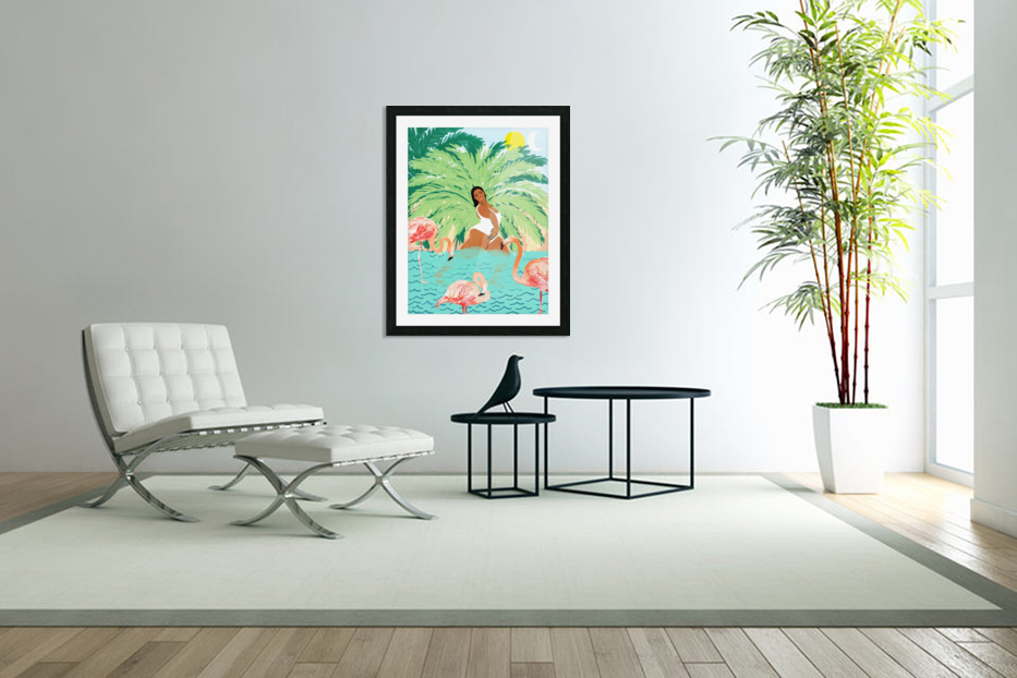 Water Yoga in Custom Picture Frame