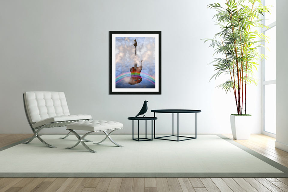 Bass Guitar with Dancer in Custom Picture Frame
