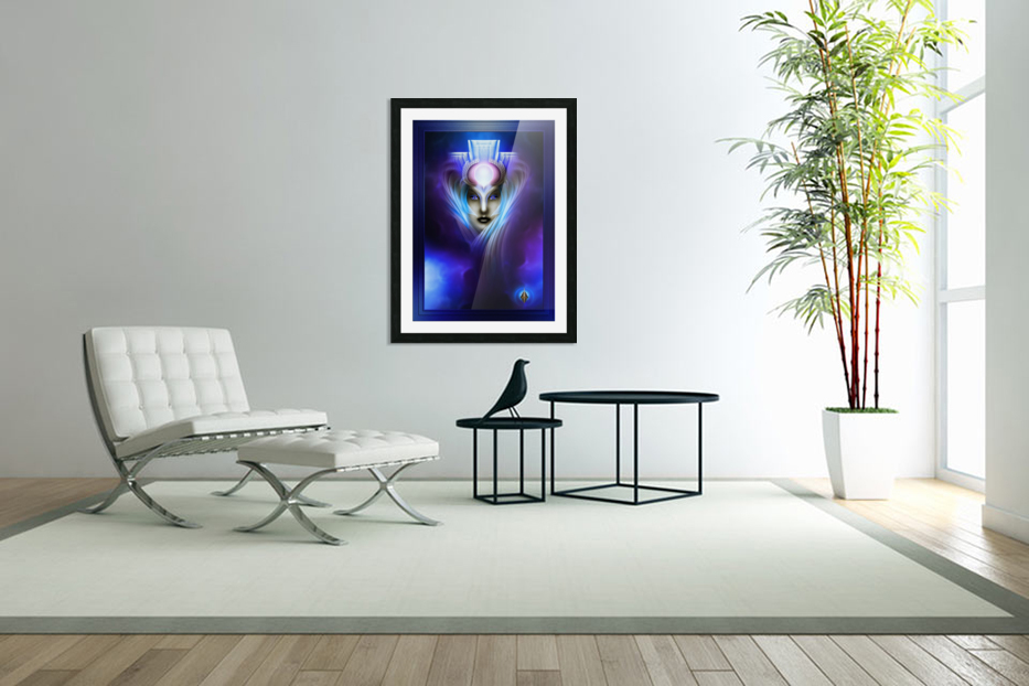What Dreams Are Made Of Ethereal Clouds Portrait T2 in Custom Picture Frame