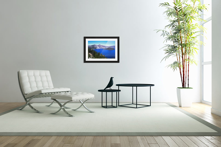 Crater Lake Oregon in Custom Picture Frame