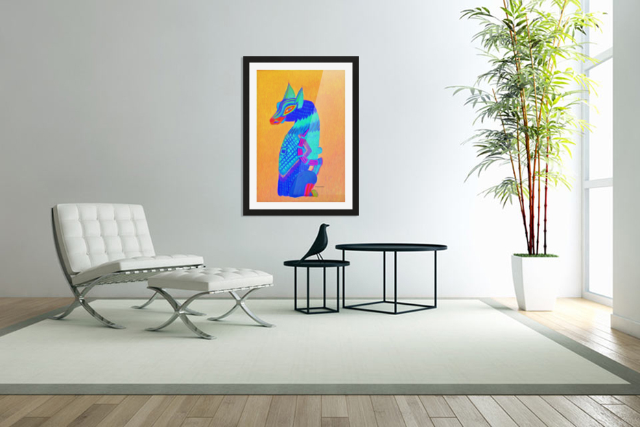 Blue Cat in Custom Picture Frame