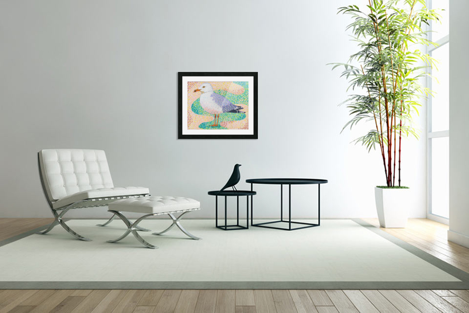 Seagull in Custom Picture Frame