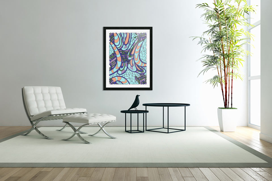 Wandering Abstract Line Art 09:  in Custom Picture Frame