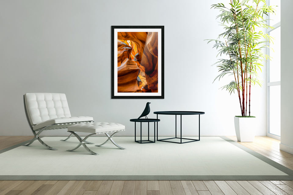 Upper Antelope Canyon 7 in Custom Picture Frame