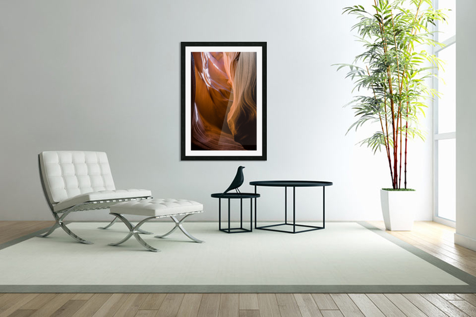 Upper Antelope Canyon 12 in Custom Picture Frame