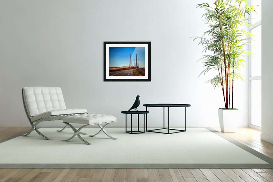 Indian River Bridge North Approach in Custom Picture Frame