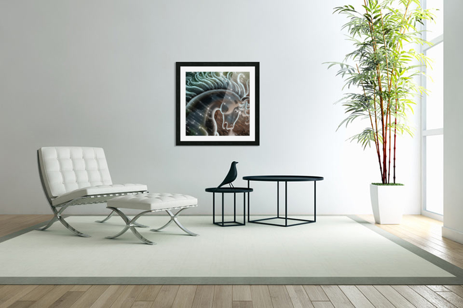 horse nature stallion equestrian in Custom Picture Frame