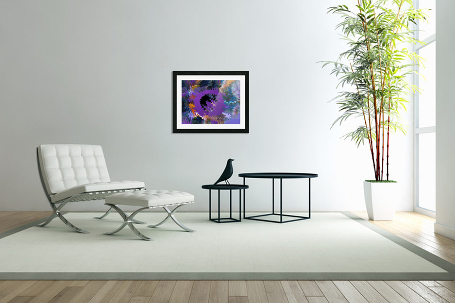 Modern art living room digital art artist Ron Malestein - 450 in Custom Picture Frame