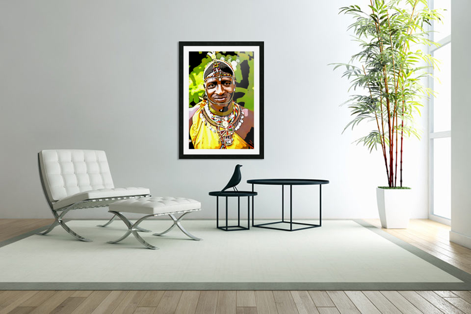 African in Custom Picture Frame