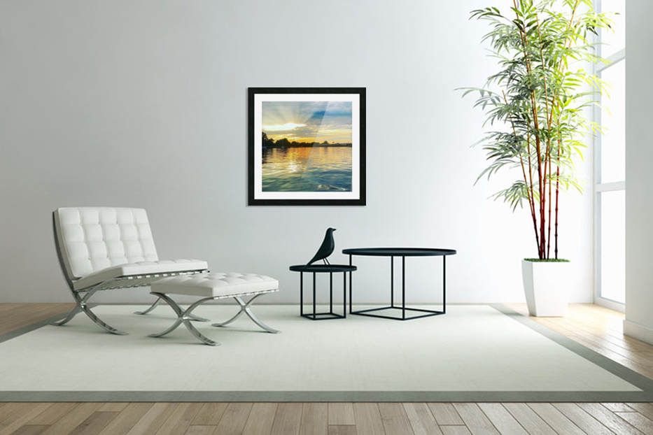 Washington Channel Sunset in Custom Picture Frame