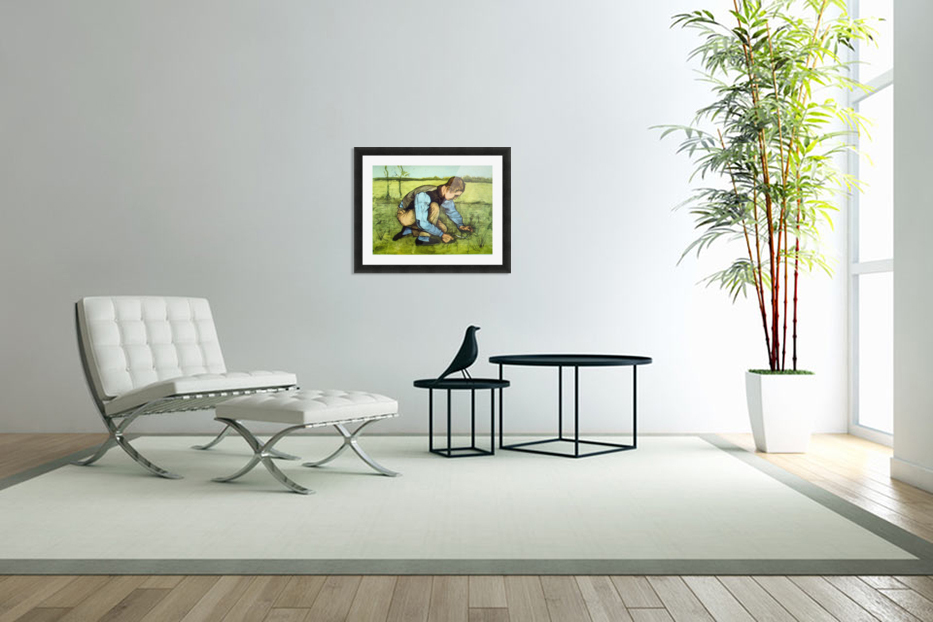 Cutting Grass by Van Gogh in Custom Picture Frame