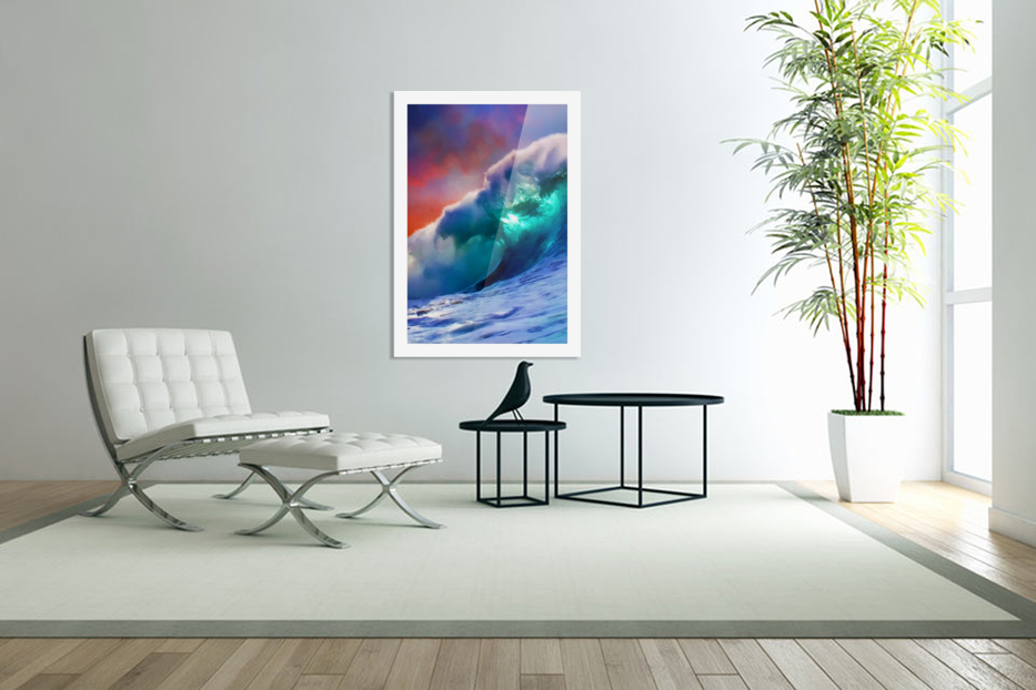 Sunset Wave in Custom Picture Frame