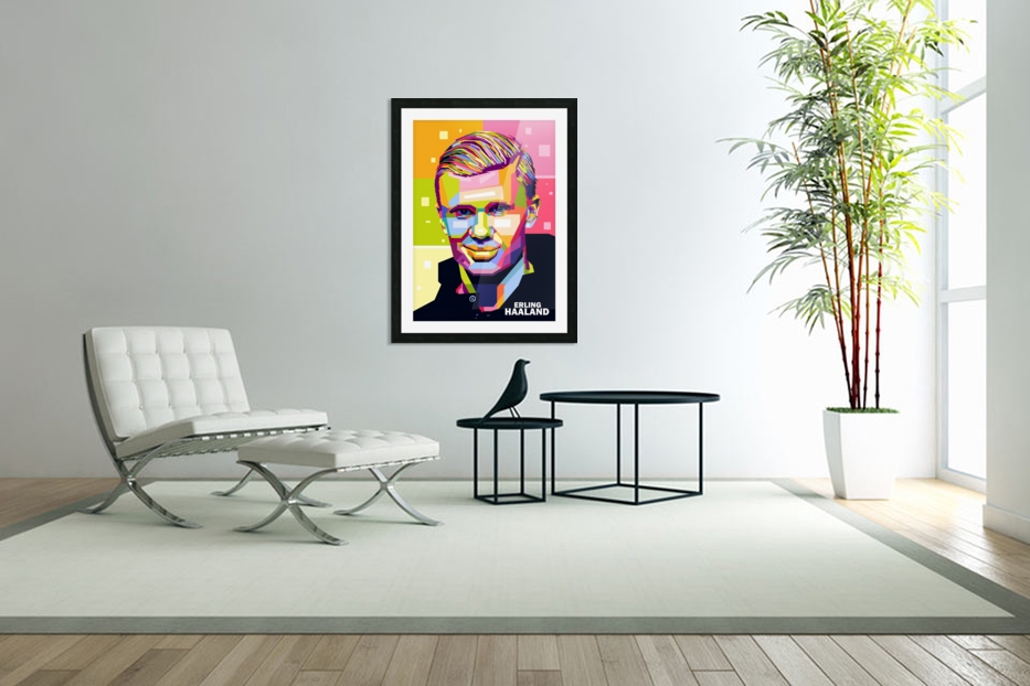 Erling haaland in Custom Picture Frame