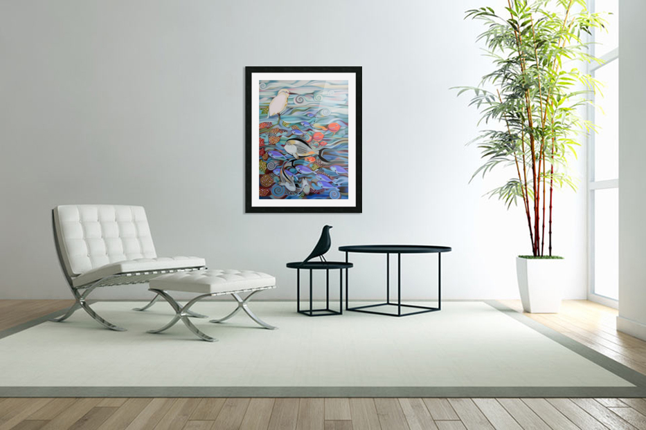 Memory of the coral reef in Custom Picture Frame