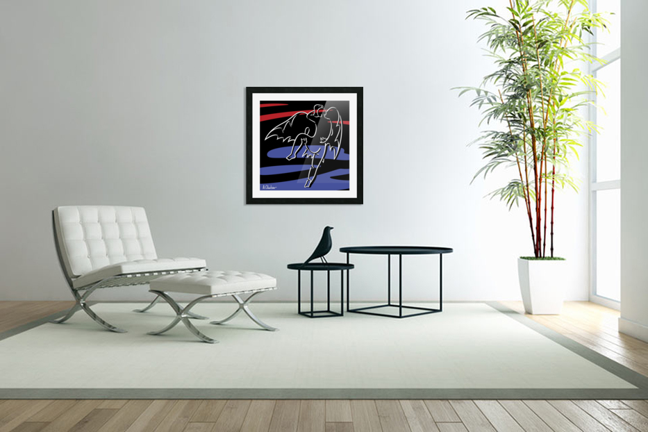 Abduction of Ganymede in Custom Picture Frame