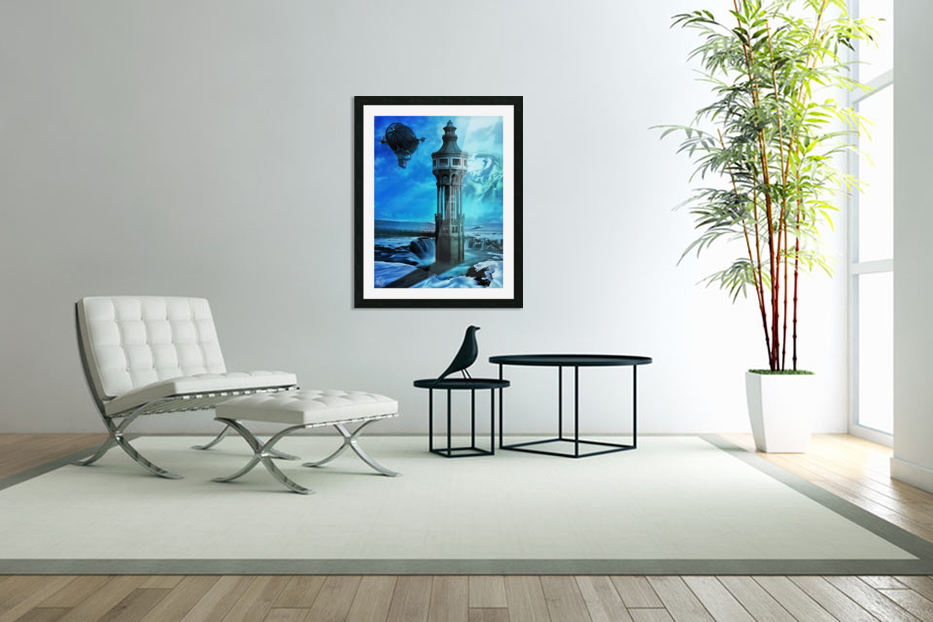 The North Tower in Custom Picture Frame